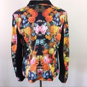 Torrid Floral Tuxedo Style Blazer